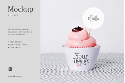 Strawberry Jam Cupcake Topper Mock Up   Affinity Designer