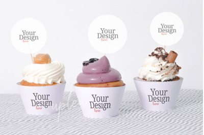 Cupcake Topper Mock Up | Compatible With Affinity Designer