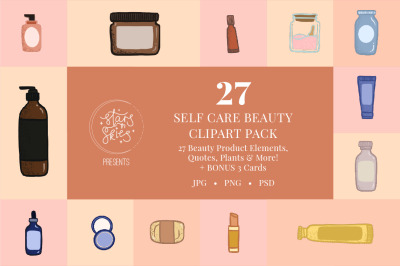 Self Love Beauty Clipart Pack