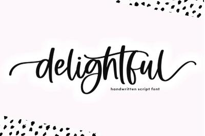 Delightful | Modern Script Font