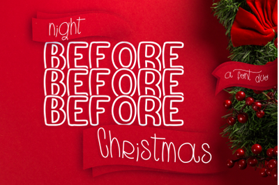 Night Before Christmas Mirror Font