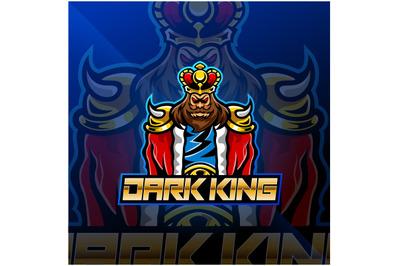 Dark king esport mascot logo design