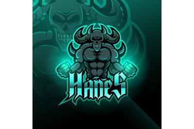 Hades esport mascot logo design
