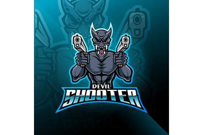 Devil shooter esport mascot logo