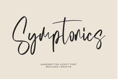 Symptonics Signature Handwritten Font