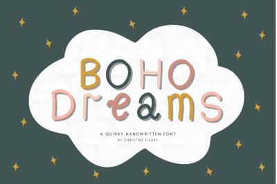 Boho Dreams - A quirky handwritten font