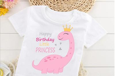 Cute Girl Dinosaur svg, cute princess dino svg, clipart, funny dino sv