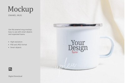 Enamel Mug Mock Up | Compatible With Affinity Designer