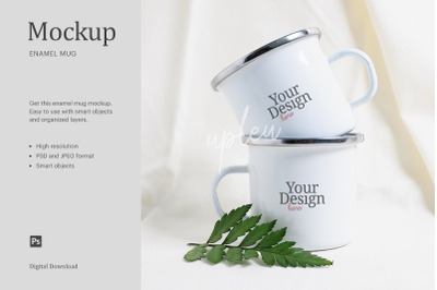Couple Enamel Mug Mock Up | Compatible With Affinity Designer