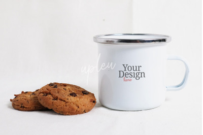 Enamel Mug And Cookies Mock Up | Compatible With Affinity Designer
