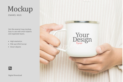 White Camp Mug Mock Up | Compatible With Affinity Designer