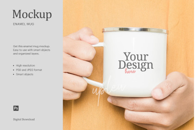 Camping Mug Mock Up | Compatible With Affinity Designer