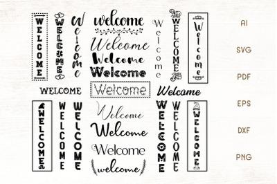 Welcome SVG - Welcome Sign Bundle - Porch Sign SVG