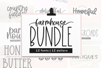 Farmhouse Font Bundle - Fonts for Crafters - Part Two