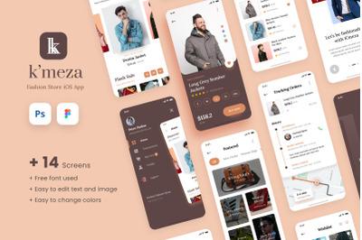 Kmeza - Fashion Store iOS App Design UI Template