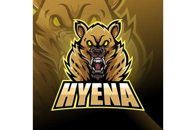 Hyena esport mascot logo design