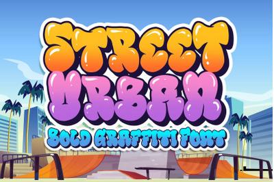 Street Urban Graffiti Font