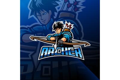 Archer esport mascot logo design