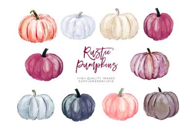 Autumn pumpkin watercolor clipart, Wine Fall Bridal Shower, Marsala