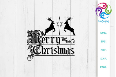 Merry Christmas Quote Svg File