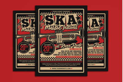 Ska Music Concert Flyer