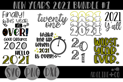 New Years 2021 Bundle, holiday, NYE