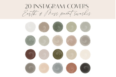 Earth & Moss Instagram Highlight Covers, Earthy Watercolor Story Cover
