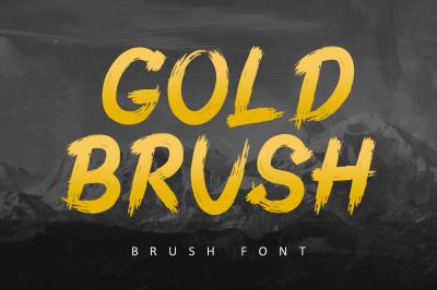 Gold Brush - Best Brush Font