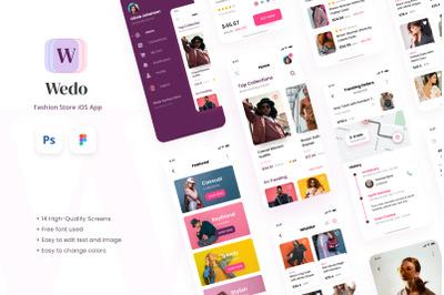 Wedo - Fashion Store iOS App Design UI Template