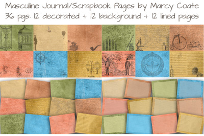 Masculine Journal and Scrapbook Kit