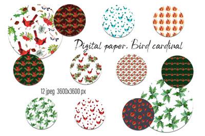 Christmas winter digital paper