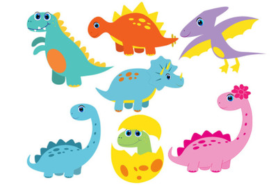 Cute Dinosaur Bundle svg, cute dino svg, clipart, funny dino svg, cric