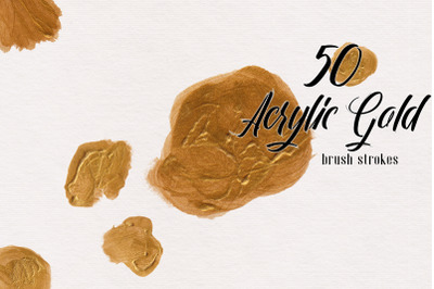 Gold Acrylic Brush Stroke Collection