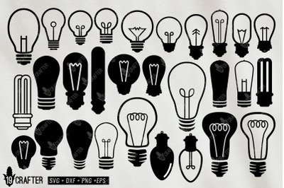 light bulb svg bundle