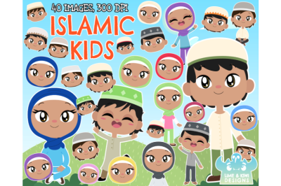 Islamic/Muslim Kids Clipart - Lime and Kiwi Designs