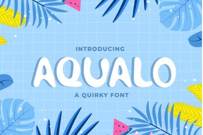 Aqualo - Cute Display Font