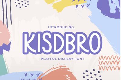 Kidsbro - Kids Display Font
