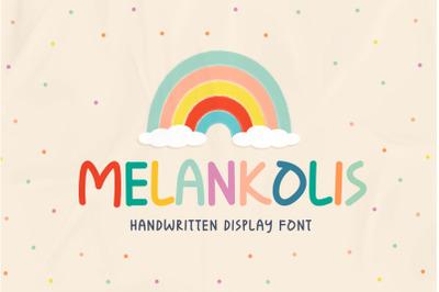 Melankolis - Handwritten Display Font