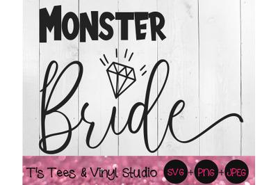 Monster Bride Svg, Wedding Svg, Funny Wedding, Marriage Joke, Hallowee