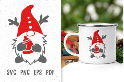 Christmas gnome svg files for cricut Christmas mug design Winter gnome