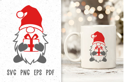 Santa gnome svg Christmas gnome svg files Christmas mug designs