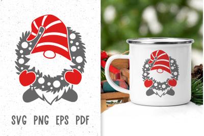 Christmas gnome svg Christmas svg files for cricut Gnome decor svg