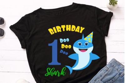 Shark 1st Birthday Svg, Birthday Shark clipart, funny shark svg, Boy b