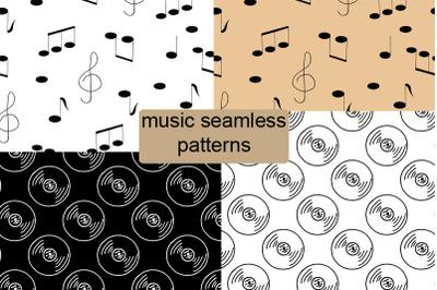music seamless patterns