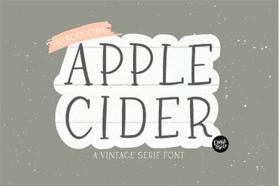 APPLE CIDER Farmhouse Serif Font