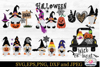 Halloween Gnome Bundle SVG, Gnome Trick Or Treat SVG