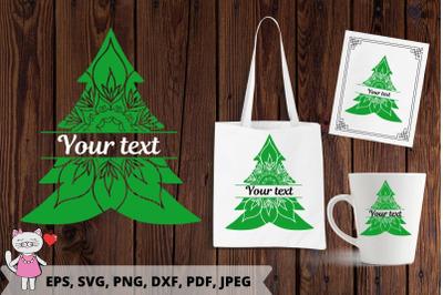 Christmas tree SVG, Christmas Mandala monogram Svg, PNG, PDF