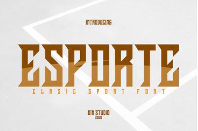 Esporte-Classic Sport Font