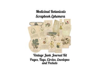 Medicinal Botanicals Junk Journal Kit