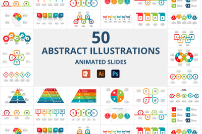 50 abstract animated infographics